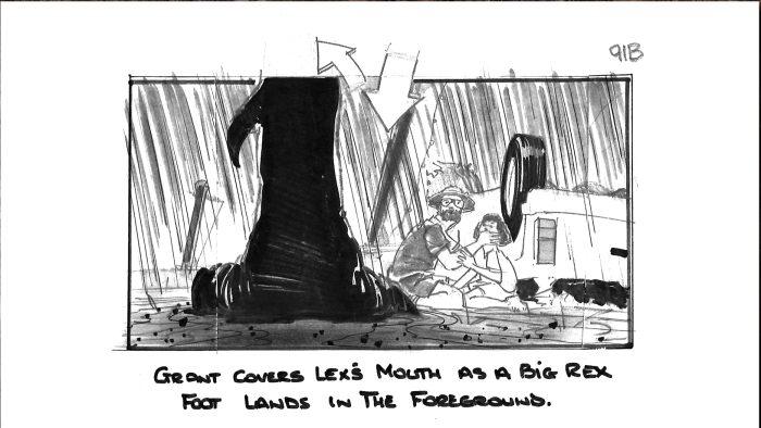 T-Rex Attack Jurassic Park Storyboard