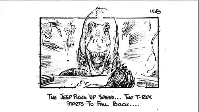 Jeep Chase Jurassic Park Storyboard