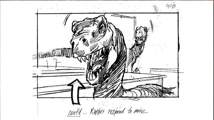 Raptors in the Kitchen Jurassic Park Storyboard