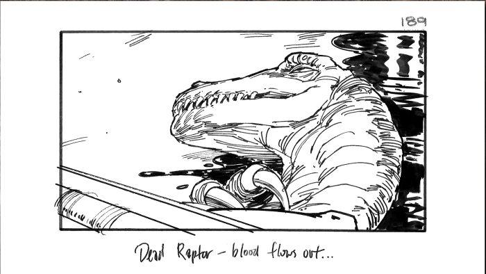 Jurassic Park Alternate Ending Storyboard