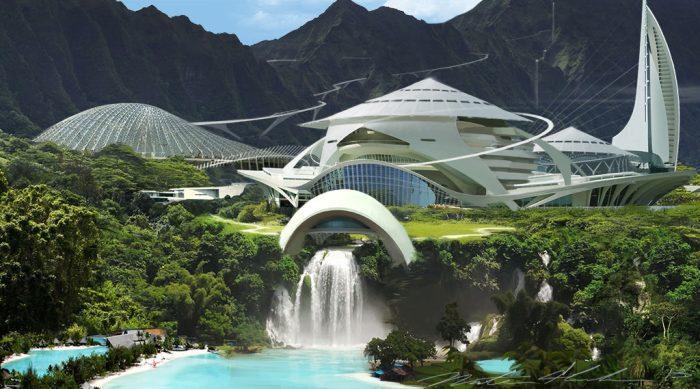 Nathan Shroeder Jurassic World Concept Art Kauai Resort Visitor Center First Jurassic World Concept Art!