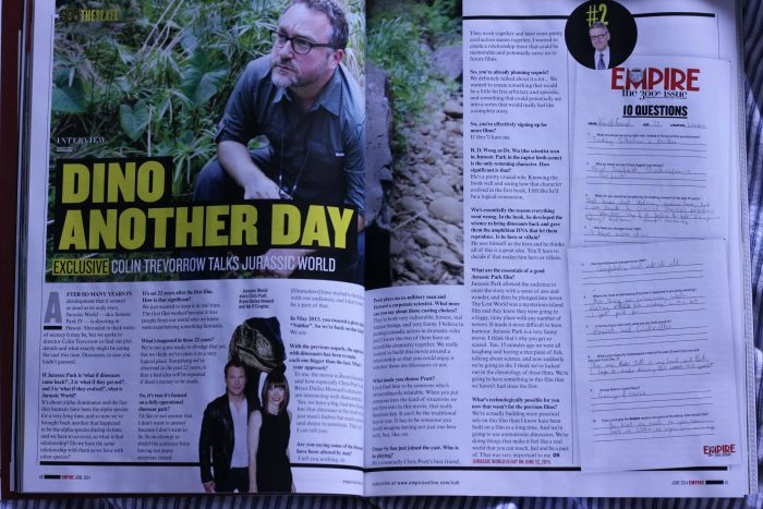 Jurassic World Empire Magazine Jurassic World in Empire Magazine - Scans