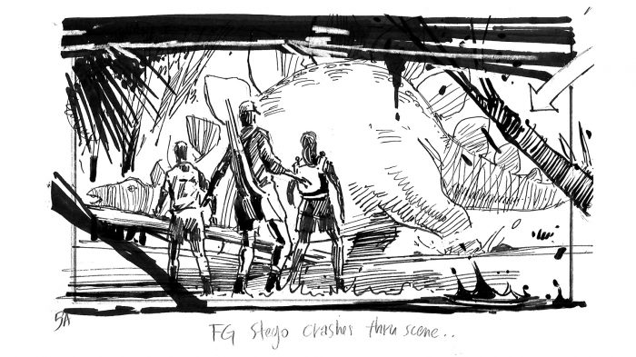 The Lost World Storyboard Stego Attack