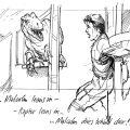 The Lost World Storyboard Malcolm vs. Raptor