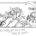 The Lost World Storyboard Sarah Harding vs. The Raptors