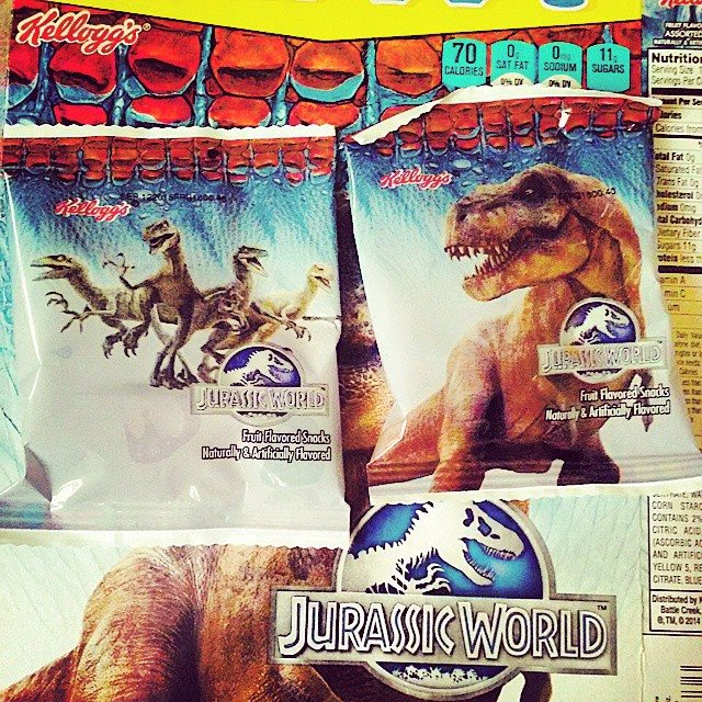 10888610_859761090735070_6692667547066744727_n Jurassic World Featured on Kellogg's Cereal Snacks