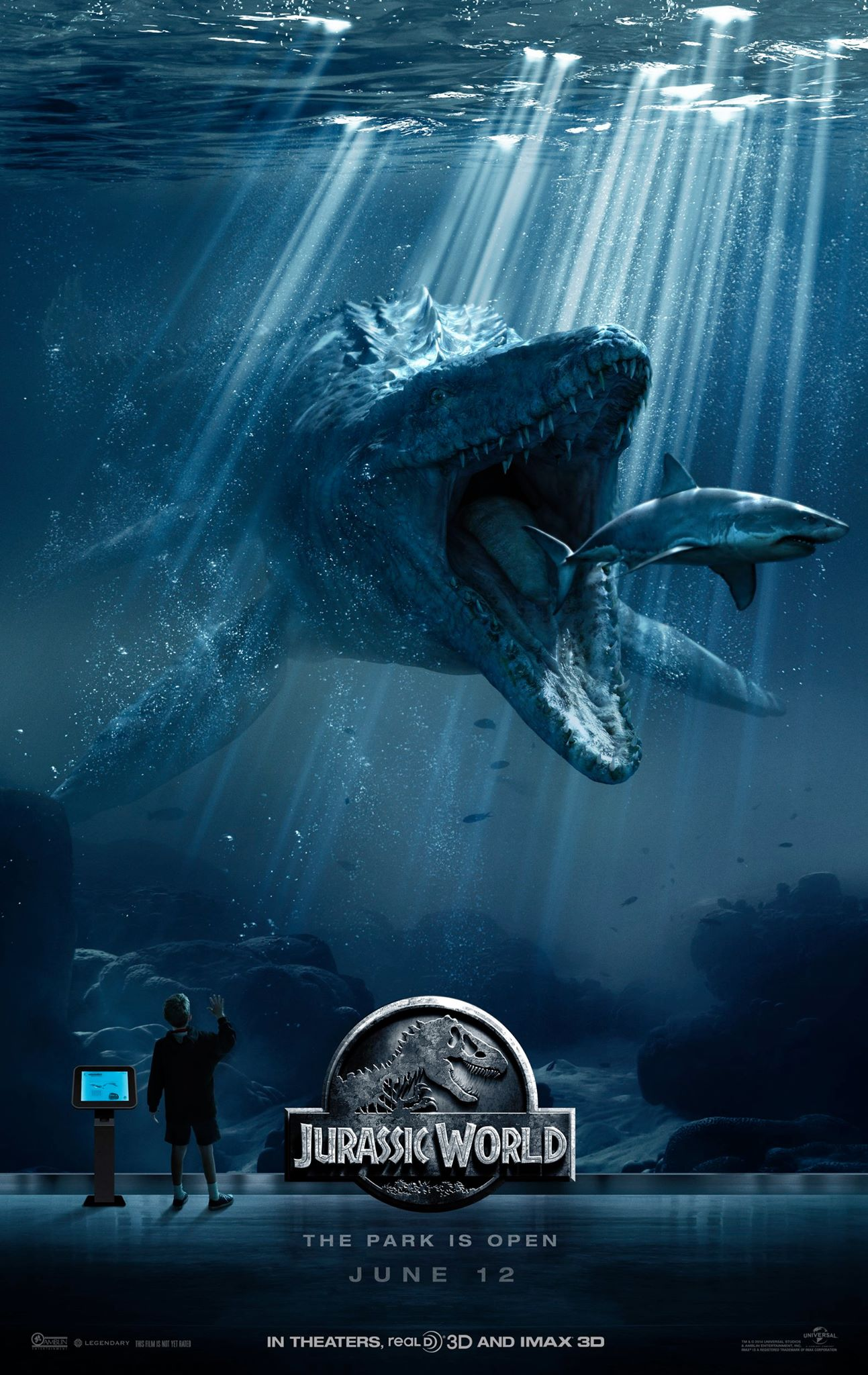 10623357_908272402550977_6384474390653526950_o Second Jurassic World Poster Features Mosasaurus