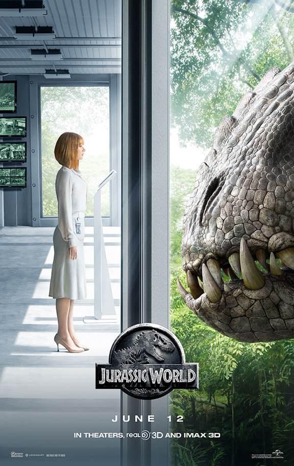 Jurassic-World-poster New Jurassic World Poster Features Indominus Rex