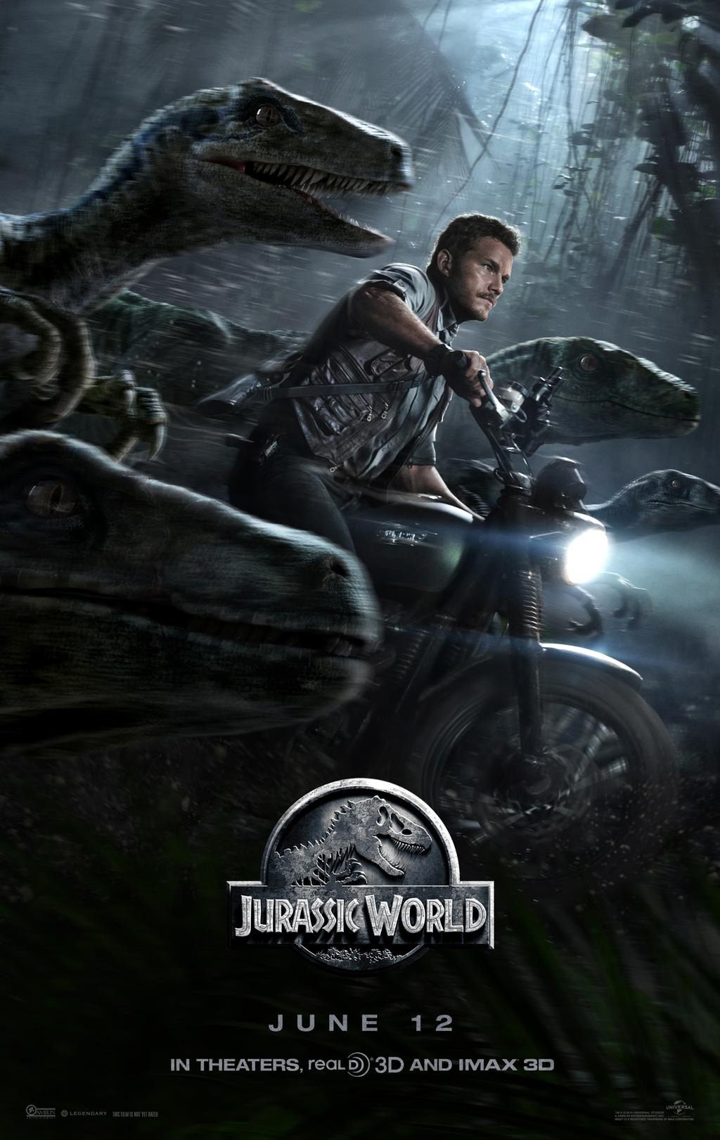 jurassicworldposter Third Jurassic World Poster Shows Velociraptors
