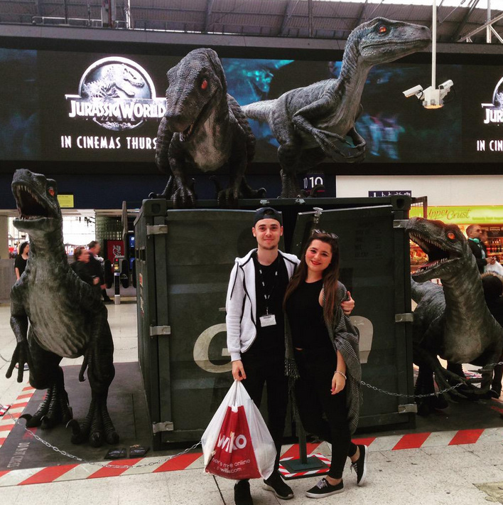 Snap1 Jurassic World Marketing in Waterloo Station