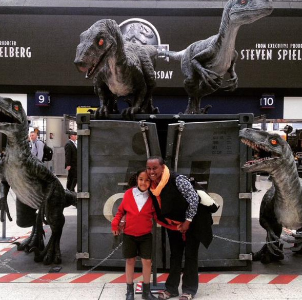 Snap2 Jurassic World Marketing in Waterloo Station