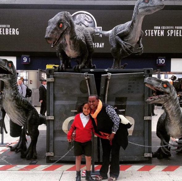 Snap2 Jurassic World Marketing in Waterloo Station