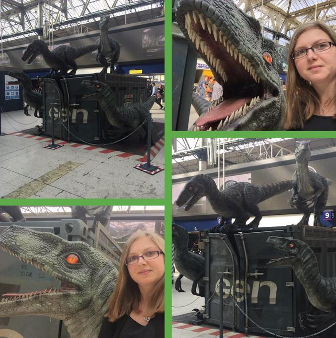 Snap3 Jurassic World Marketing in Waterloo Station