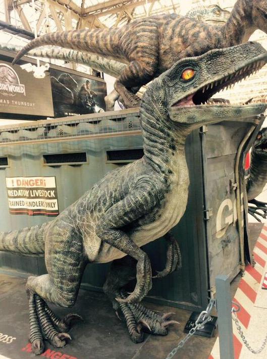 Snap4 Jurassic World Marketing in Waterloo Station
